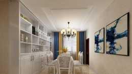 132平歐式三居室,白色搭配棕色,凸顯出的大氣和華貴氣質