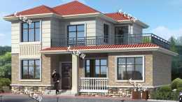 12.9×9.2米二層別墅,完全滿足爸媽要求,老家值得建一棟