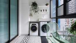 洗衣機別傻傻放衛生間了,不到半年就生鏽,放在這裡才是聰明之舉