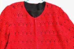 鉤針開衫毛衣,這個花樣鉤出來闆闆正正,很有型
