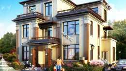 12.9×11.1米新中式別墅,今年最火的三層設計之一,美觀度極高