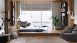 沒陽臺的客廳怎麼設計?試試這3種方法,超讚的哦!