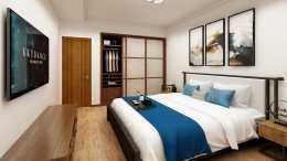 65平居家剛需房以新中式的風格呈現,整個空間很有氛圍