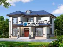 12×11米,二層新中式小別墅,主體造價23萬沒壓力,傳承大宅風範