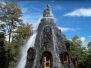 智利也有水簾洞,這座酒店將火山和瀑布結合,住一晚2000多元