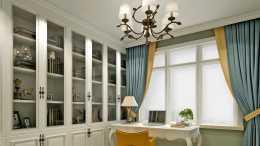 128平簡歐三居室溫馨舒適,兩個臥室居住一個是書房兼多功能房