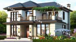 12米寬的新中式二層別墅,露臺打造葡萄園,簡直不要太美!