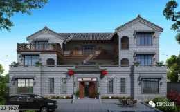 23×15米古樸中式合院,室外樓梯+舒適套房,打造雅緻居住生活